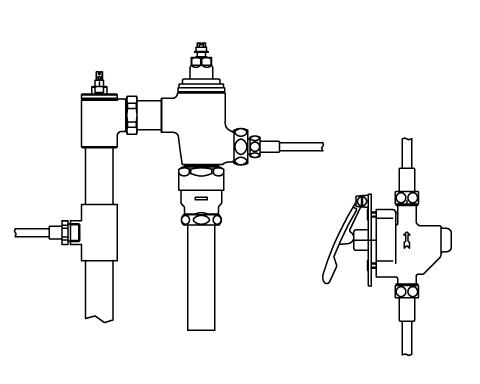 ▽INAX リモコンフラッシュバルブ 洗浄水量6-8L便器用 隠ぺい形(定流量弁付)【CFR-T680PK】 受注生産品