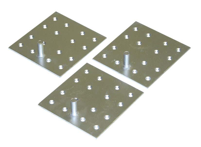●三菱 エコキュート 部材 貯湯ユニット用【GZ-H12A】脚固定金具(木質床用・M12ネジ)