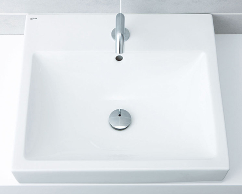 INAX 角形洗面器【L-536ANC】ベッセル式 本体のみ カラン穴対応 ANC