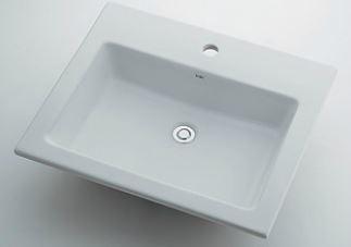 カクダイ【493-008】角型洗面器//1ホール