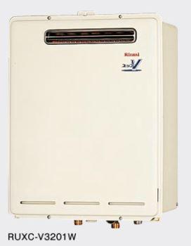 ###リンナイ 業務用タイプ 32号 リモコン別売【RUXC-V3201W】給湯専用 屋外壁掛型・PS設置型