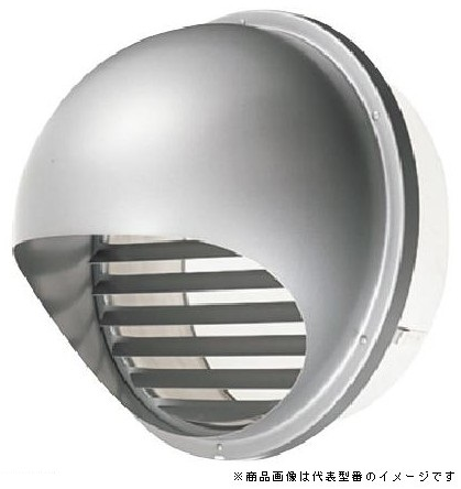 東芝 換気扇部材【DV-250SR】 丸形パイプフード(ガラリ付) ステンレス製