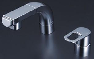 買い誠実 洗面化粧室【FSL120DT】シングルレバー式洗髪シャワー:あいあいショップさくら KVK-木材・建築資材・設備