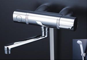 KVK 水栓金具【FTB100KWKST】浴室用水栓 サーモスタット式シャワー(スカートソケットタイプ) 170mmパイプ付 ※寒冷地用
