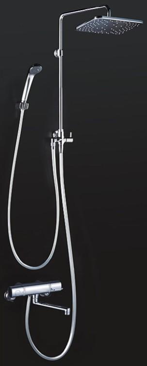 KVK 水栓金具【KF3110】浴室用水栓 オーバーヘッドシャワー付サーモ 170mmパイプ付