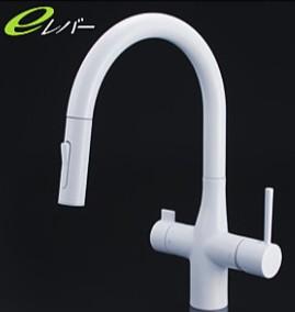 KVK キッチン【KM6081VECM4】浄水器専用シングルレバー式シャワー付混合栓
