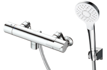 2019年4月発売予定 TOTO 浴室用水栓金具【TBV03404Z】GGシリーズ 壁付サーモスタット混合水栓(壁付き) コンフォートウェーブ 3モード めっき ※寒冷地用