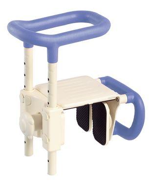 ###アロン化成 安寿【536-611】浴槽用手すり 高さ調節付浴槽手すり UST-165W ブルー