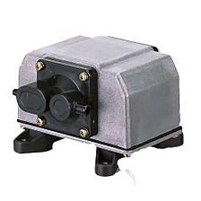 ###安永 電磁式エアーポンプ【YP-50DU】ビルトインタイプ YPタイプ 単相100V 受注生産