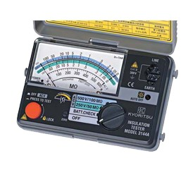 Я共立電気計器/KYORITSU【3146A】アナログ2レンジ絶縁抵抗計