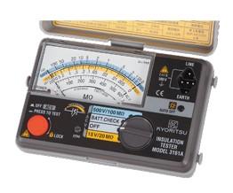 Я共立電気計器/KYORITSU【3161A】アナログ2レンジ絶縁抵抗計