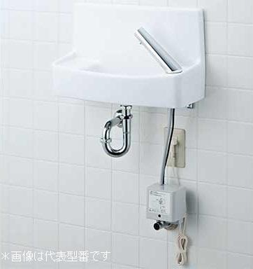 INAX/LIXIL 洗面化粧室【L-A74UAB】自動水栓 100V ハイパーキラミック 床排水 床給水
