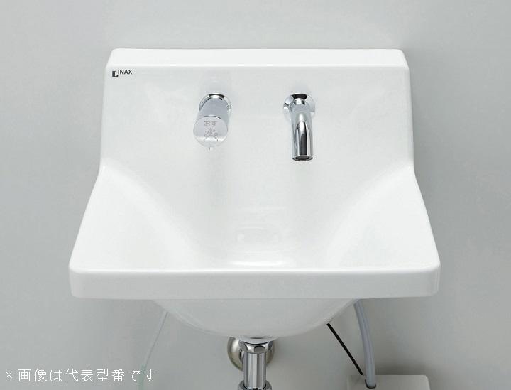 INAX/LIXIL 洗面化粧室【L-A951KA2C】ハイバックガード洗面器 Mサイズ 自動水栓 混合水栓 100V 壁排水(Pトラップ) 壁給水