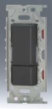 β神保電器 配線器具【NKRW2001SB】NK シリーズ リモコンスイッチ 埋込リモコンスイッチセット ダブル (ソフトブラック)