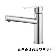 三栄水栓/SANEI 水栓金具【K4750ENV-13】シングルワンホール洗面混合栓 ポップアップなし・ゴム栓なし