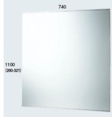 カクダイ【200-321】化粧鏡