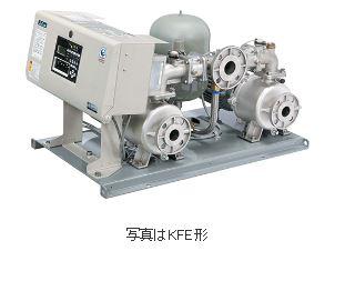 川本 ステンレス製速度制御給水ユニット 【KFE50T3.7】三相200V 3台ロータリー KFE形 ポンパー 推定末端圧一定 インバータ制御