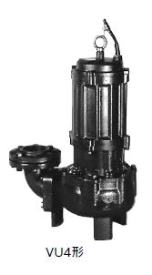 川本 汚物水中ポンプ 4極 50Hz【VU4-1005-3.7】フランジタイプ 三相200V 非自動型 VU4形 ボルテックスタイプ
