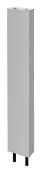 カクダイ【624-660-120】厨房用ステンレス水栓柱(立形水栓用)//20
