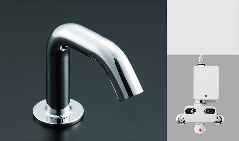 ▽INAX/LIXIL 洗面器・手洗器用自動水栓【AM-130TC】オートマージュC 混合水栓 アクエナジー仕様 排水栓なし