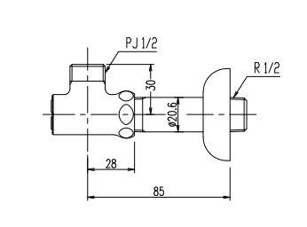 LF 3FK MB 定番の人気シリーズPOINT ポイント 本物◆ 入荷 INAX オプション 壁給水用止水栓 LF-3FK-MB LIXIL
