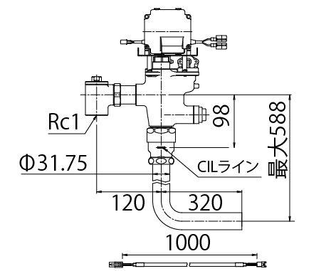 INAX/LIXIL【OKC-T780N-1】自動フラッシュバルブ