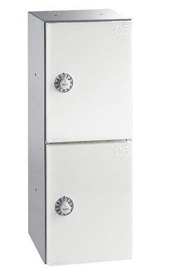####u.キョーワナスタ/NASTA【KS-PV200S-2D-VB】プライベートボックス 屋内タイプ ボックス数2 静音ダイヤル錠 バニラベージュ 400×150×169.3 受注生産