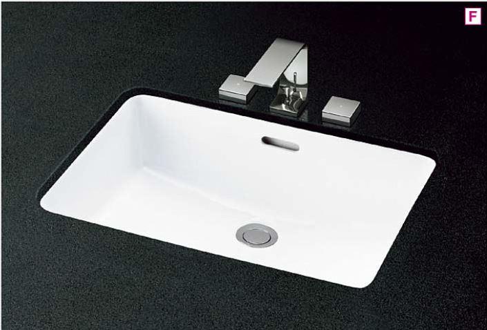 ###TOTO カウンター式洗面器 セット品番【L620+TLP02201J】アンダーカウンター式 台付2ハンドル混合水栓 床排水金具(Sトラップ)