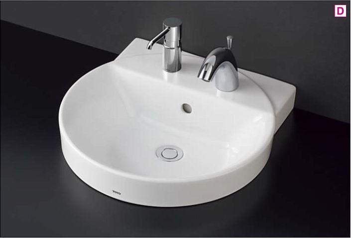 ###TOTO カウンター式洗面器 セット品番【LS704CM#NW1+TENA41A】ベッセル式 ホワイト 台付自動水栓(単水栓) 床排水金具(Sトラップ)