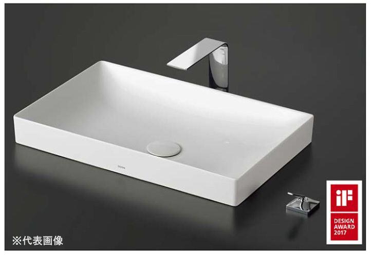 ###TOTO カウンター式洗面器 セット品番【LS916#NW1+TLP02305JA】ベッセル式 ホワイト 台付シングル混合水栓(エコシングル) 床排水金具(Sトラップ)
