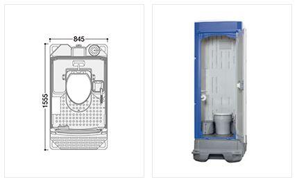 ###u.ハマネツ【TU-iXF4W-SA】屋外トイレユニット TU-iXシリーズ ポンプ式簡易水洗タイプ 洋式便器/室内防臭仕様Clear 受注約1ヵ月
