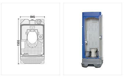 ###u.ハマネツ【TU-iXF4W】屋外トイレユニット TU-iXシリーズ ポンプ式簡易水洗タイプ 洋式便器/室内防臭仕様Clear 受注約1ヵ月