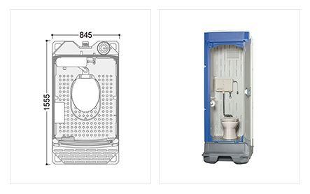 ###u.ハマネツ【TU-iXFW】屋外トイレユニット TU-iXシリーズ 簡易水洗タイプ 洋式便器 受注約1ヵ月
