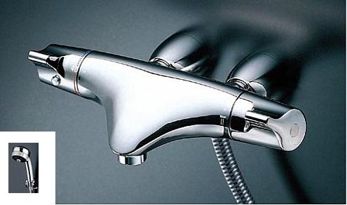 TOTO サーモスタットシャワー金具 レバーハンドル【TMNW40JC1R】シャワーヘッド:ワンダービートめっき