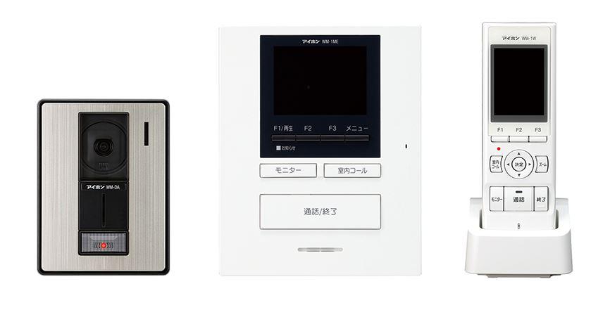 βアイホン【WM-14A】テレビドアホンワイヤレスセット1・4タイプ ROCOポータブル(AC電源直結式)