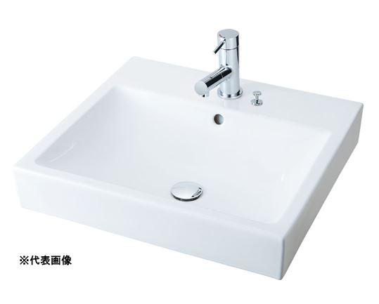 【公式ショップ】 シングルレバー混合水栓吐水口引出式 角形洗面器 床排水(Sトラップ) ベッセル式【YL-A536FYA(C)】(スクエアタイプ) ###INAX/LIXIL 壁給水:あいあいショップさくら-木材・建築資材・設備