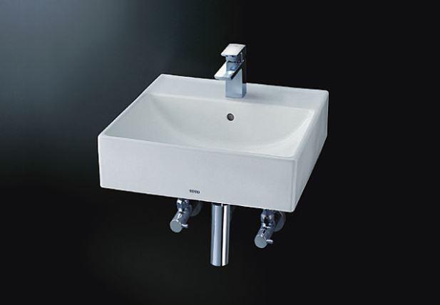 ###TOTO セット品番【L710C+TLG02302JA】壁掛洗面器 台付シングル混合水栓(エコシングル) 壁排水金具(ボトルトラップ)