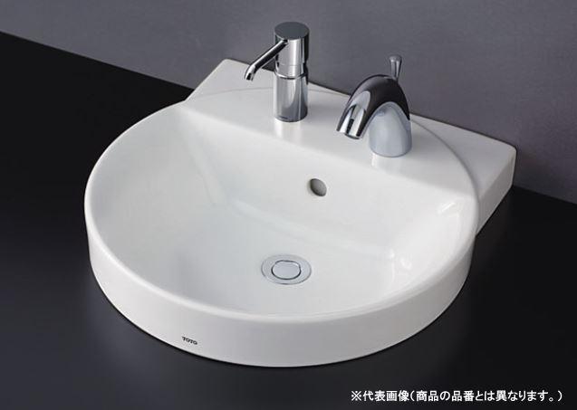 ###TOTO セット品番【LS704C#NW1+REAH03B1S12A】カウンター式手洗器 ベッセル式 ホワイト 自動水栓一体形電気温水器 床排水金具(Sトラップ)