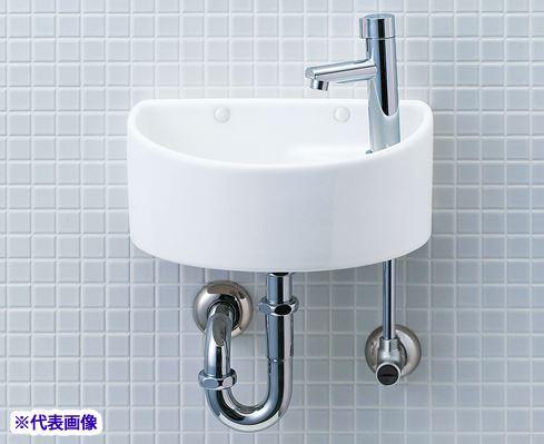 INAX/LIXIL【YAWL-33(P)】狭小手洗器 手洗タイプ(丸形) アクアセラミック 壁排水(Pトラップ) 壁給水 一般地・寒冷地共用