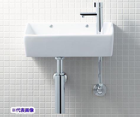 INAX/LIXIL【YL-A35HG】狭小手洗器 手洗タイプ(角形) アクアセラミック 壁排水(ボトルトラップ) 壁給水 一般地・寒冷地共用