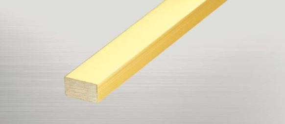 ####u.アシスト/Assist【20-6210-2 (4m)】床金物 フラットバー 真鍮製 穴有 磨き仕上げ