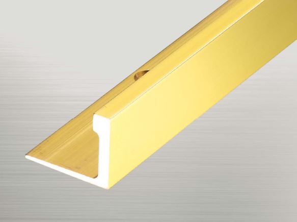 ####u.アシスト/Assist【20-6520B (4m)】床金物 真鍮フロアジョイナー 真鍮製 穴有 磨き仕上げ 受注生産