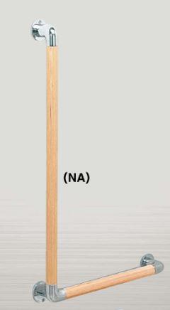 ####u.アシスト/Assist【66-6045(NA)】バリアフリー 手すり φ32 L型 バー 600×450mm ウッドナチュラル 積層材