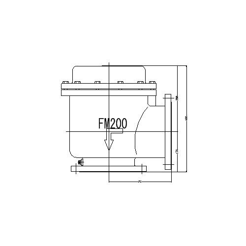 FMバルブ製作所【FMバルブ 1型 200A】(アングル型) 定水位弁 取付タイプ(フランジ型) 本体材質:CAC901