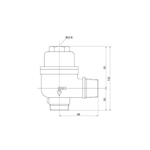 FMバルブ製作所【FMバルブ 1型 30A】(アングル型) 定水位弁 取付タイプ(ねじ込み型(R)) 本体材質:CAC901