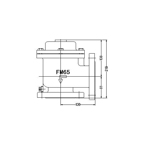 FMバルブ製作所【FMバルブ 1型 65A】(アングル型) 定水位弁 取付タイプ(フランジ型) 本体材質:CAC901
