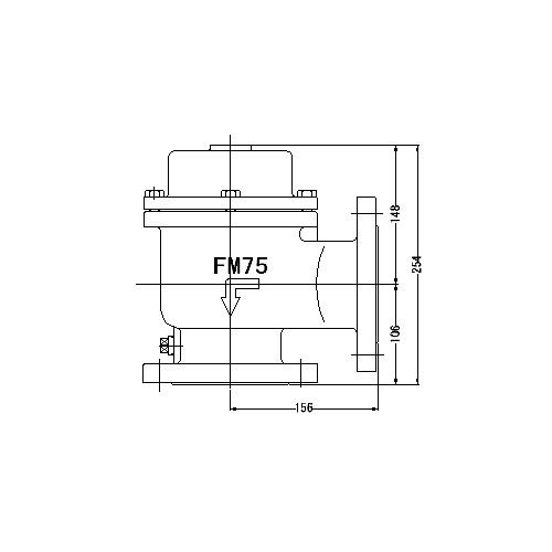 FMバルブ製作所【FMバルブ 1型 75A】(アングル型) 定水位弁 取付タイプ(フランジ型) 本体材質:CAC901