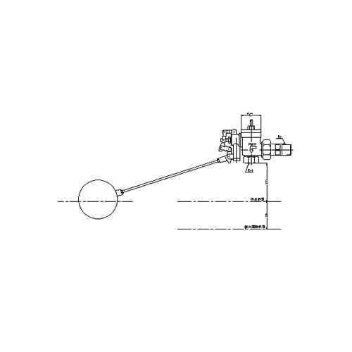 FMバルブ製作所【FM貯水槽用ボールタップ 3FB一体型 25A】取付タイプ(ねじ込み型(R)) 本体材質:CAC901