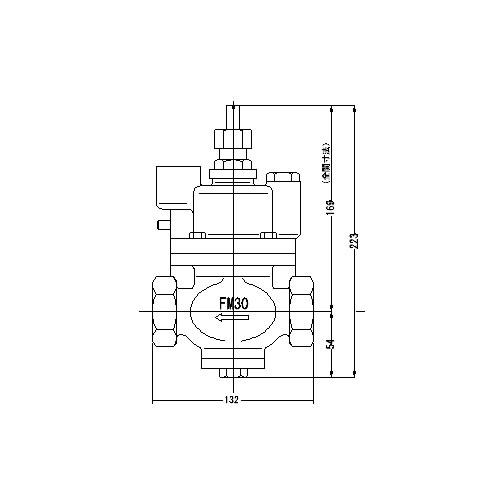 FMバルブ製作所【FMバルブ S-3型 30A】(ストレート型) 定水位弁 取付タイプ(ねじ込み型(Rc)) 本体材質:CAC901