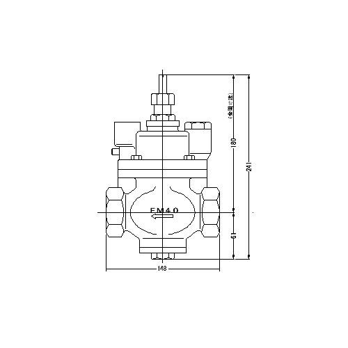 FMバルブ製作所【FMバルブ S-3型 40A】(ストレート型) 定水位弁 取付タイプ(ねじ込み型(Rc)) 本体材質:CAC901